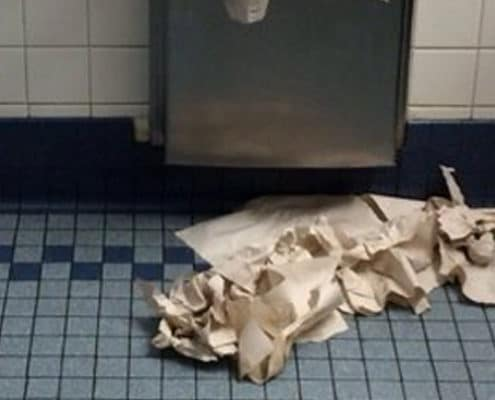 paper towel mess