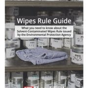 solvent contaminated wipes guide